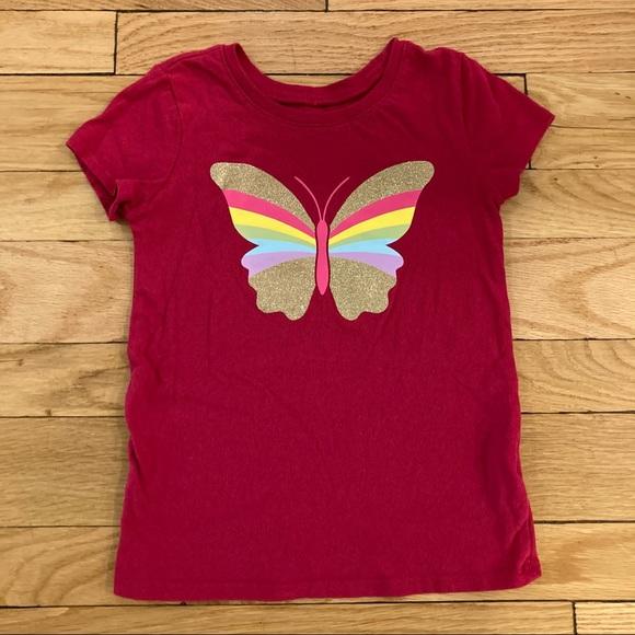 The Children's Place Rainbow Butterfly T-Shirt EUC